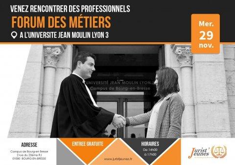 Forum des métiers Université Jean Moulin Lyon III Bourg-en-B...
