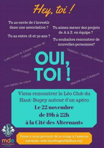 Soirée de présentation du LEO CLUB DU HAUT-BUGEY