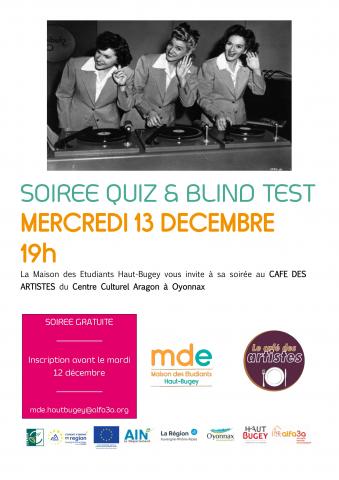 Soirée Quiz et Blind Test