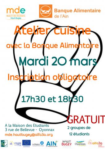 Atelier cuisine MDE Haut-Bugey x Banque Alimentaire de l'Ain...