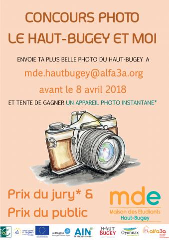 """Concours photo étudiants """"Le Haut-Bugey et moi"""""""