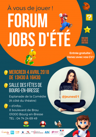 Forum Jobs d'été, Bourg-en-Bresse