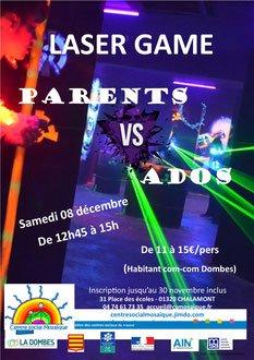 laser game parents versus ados - centre social mosaïque / Ch...