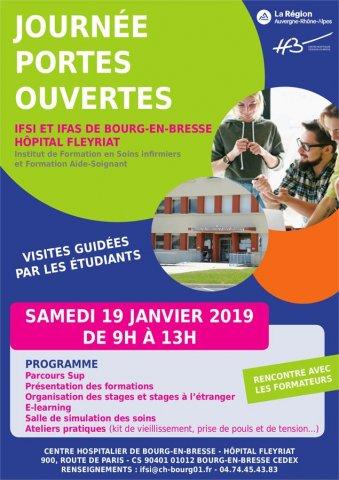 Journée Portes Ouvertes IFSI / IFAS CH Fleyriat