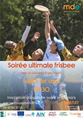 Soirée ultimate frisbee