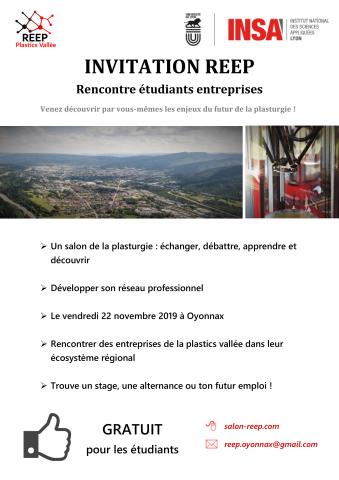 Rencontres Etudiants Entreprises de la Plastics Vallée REEP ...