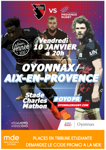 Match Oyonnax Ruby vs Aix en Provence