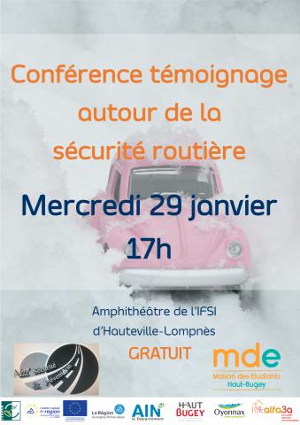 Conférence témoignage sur la sécurité routière