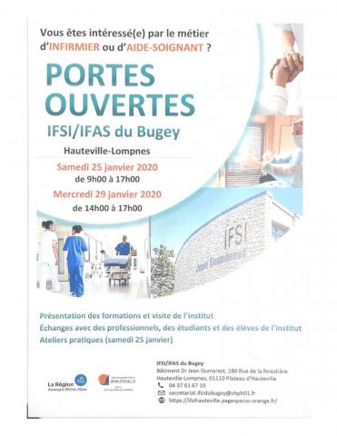 Journée portes ouvertes IFSI du Bugey d'Hauteville-Lompnès