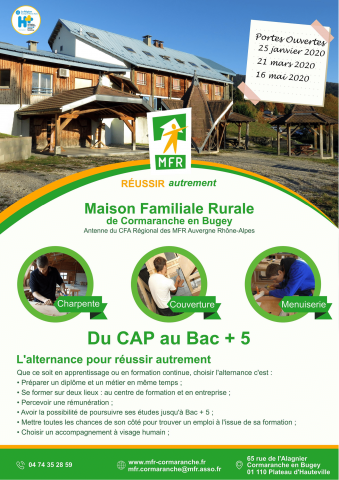 Journée portes ouvertes de la MFR de Cormaranche-en-Bugey