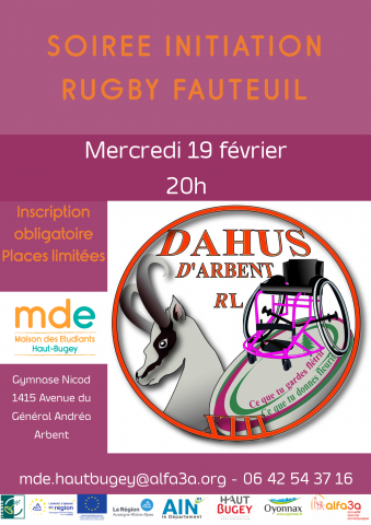 Initiation du rugby fauteuil
