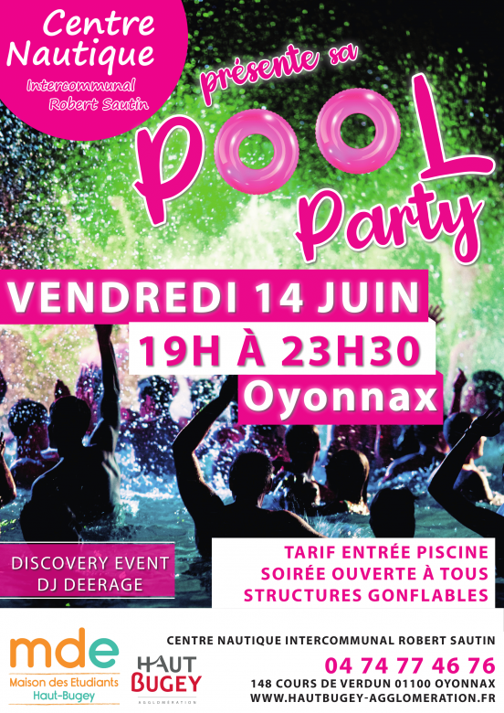 Pool Party au Centre Nautique Robert Sautin